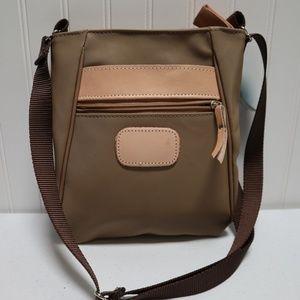 Jon Hart Tan Handbag Nylon Crossbody Small